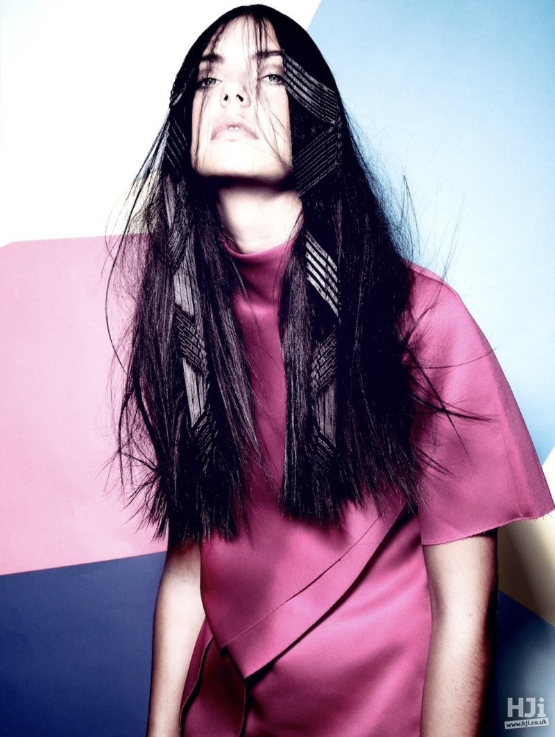 Long hair with creative styling
