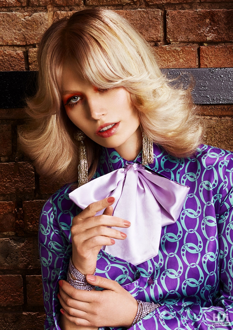 70's Inspired Blonde Balayage Haircut