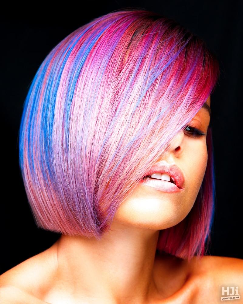 Creative colour on straight bob