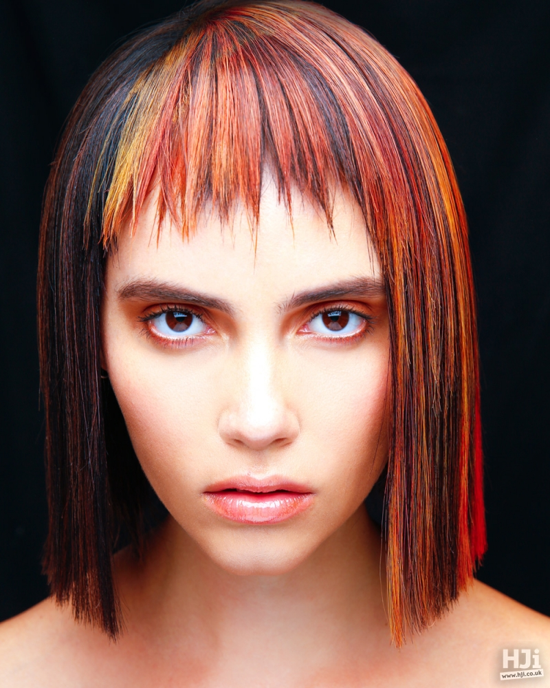 Creative colour straight bob