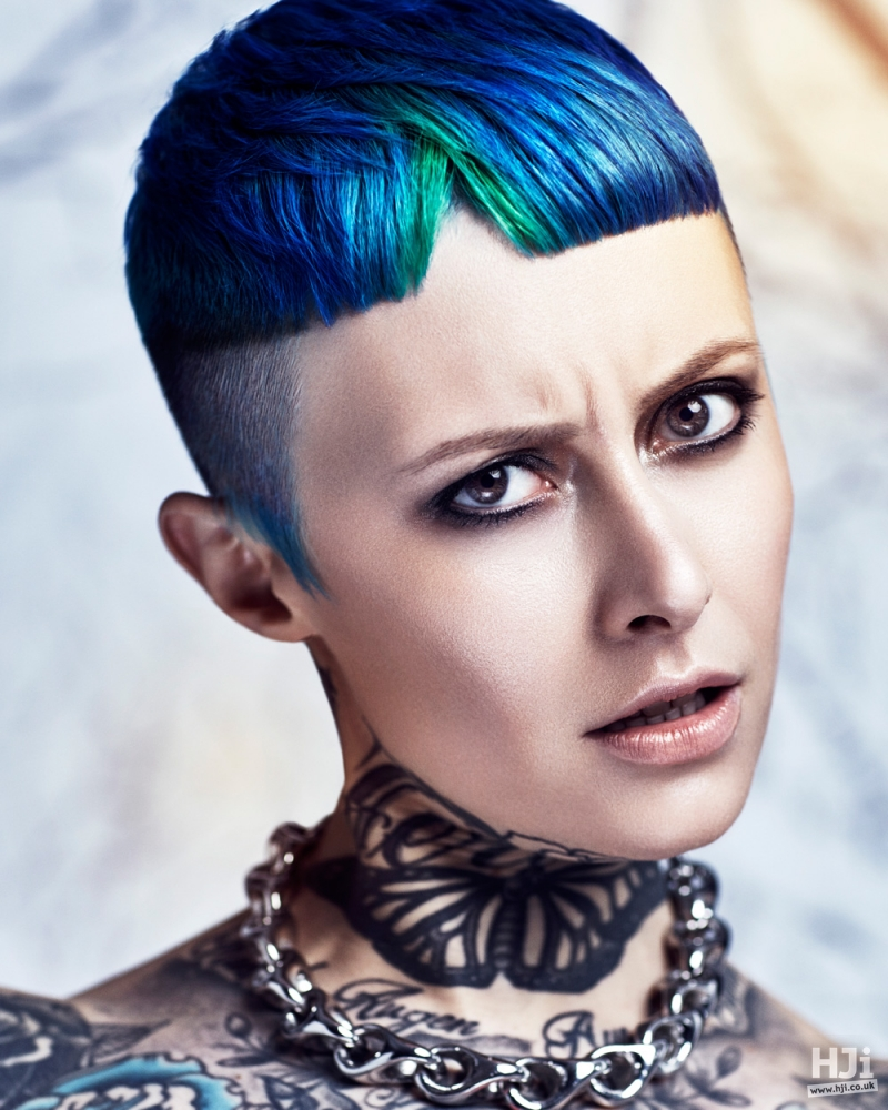 Creative colour on crop cut