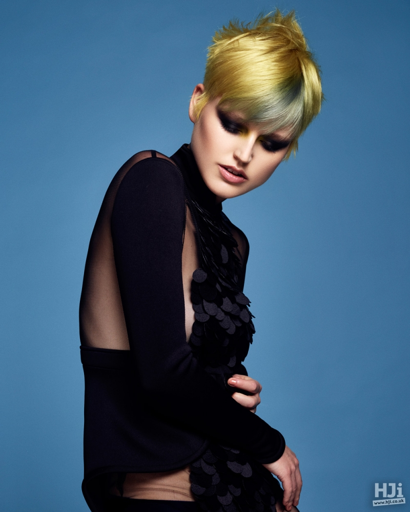 Creative colour fringe with spiky styling