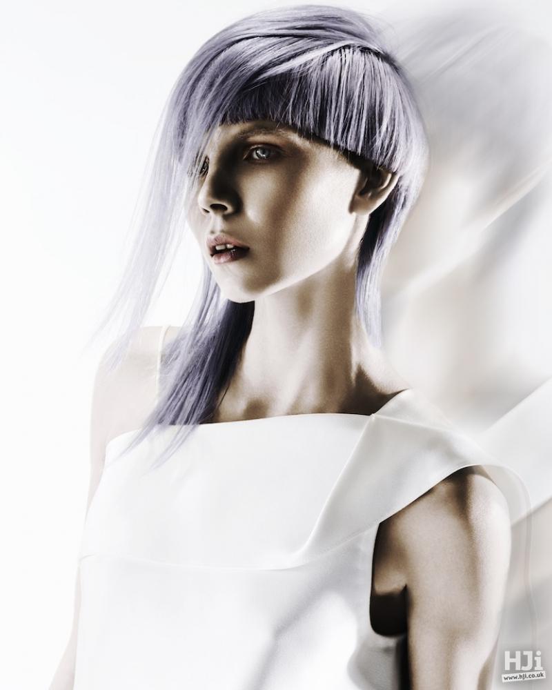 Pastel lilac asymmetric cut