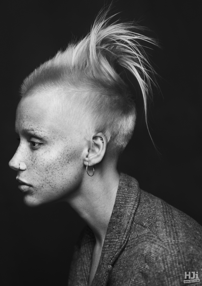 Skin fade with mohawk