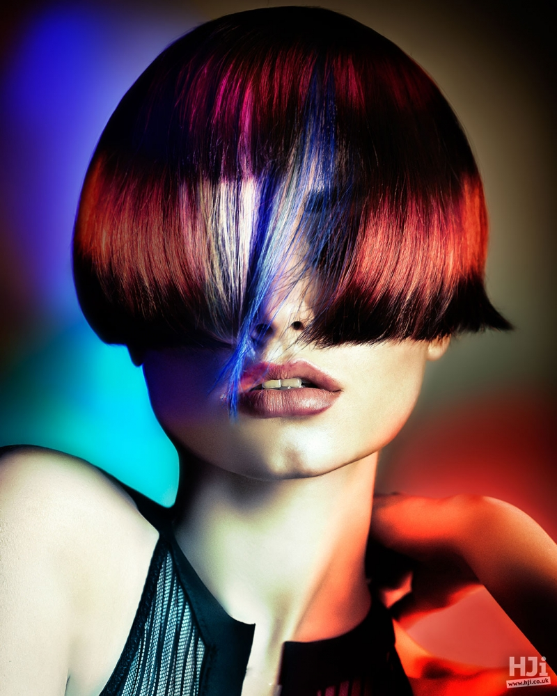 Colourful style with a sleek cut.