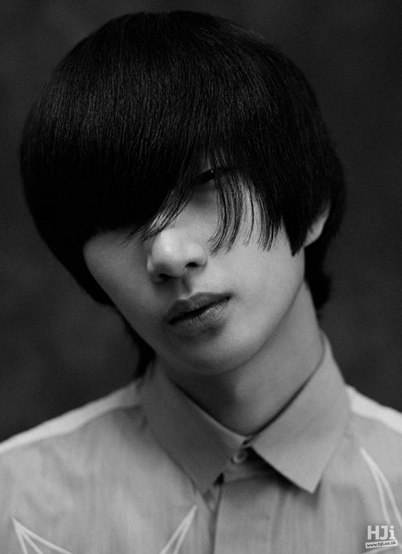 Mid-length hair, long sweeping fringe