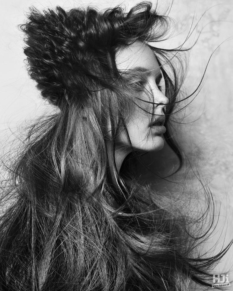 Creative texturing on long brunette