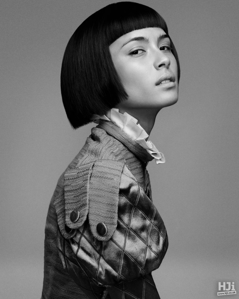 Sharp geometric black bob