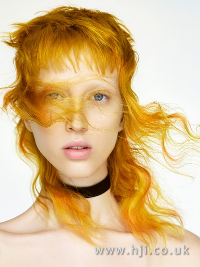 Stunning yellow hairstyle by Robert Eaton