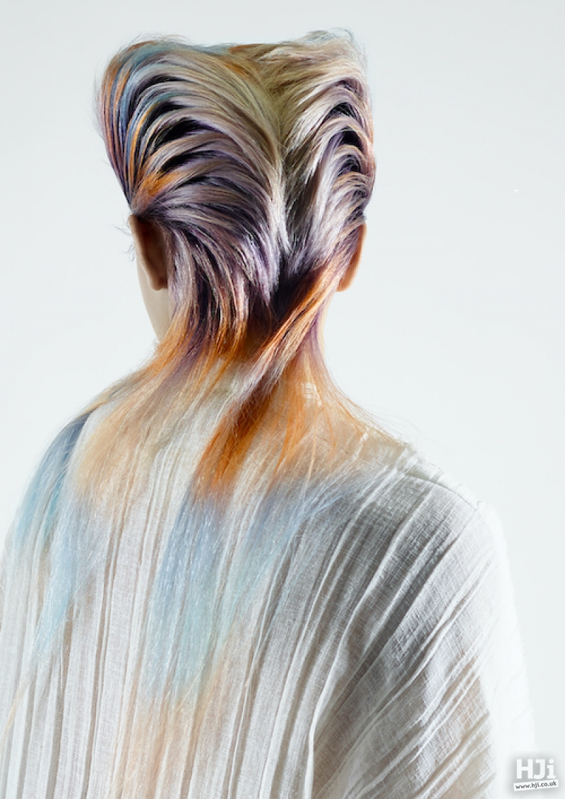 Geometric textured mullet