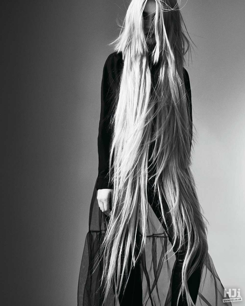 Long blonde with natural texture