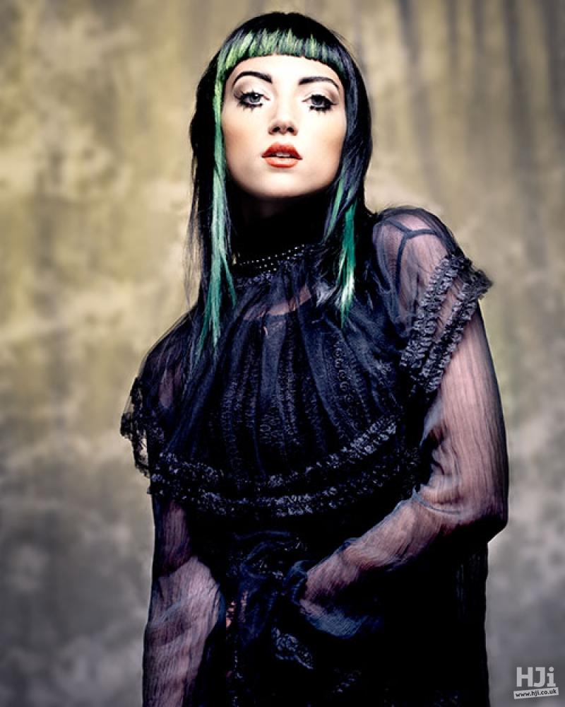 Sleek black style with fringe