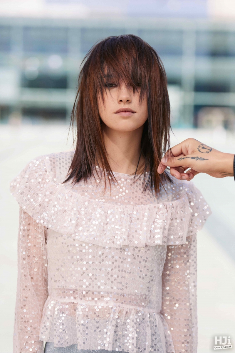 Layered fringe with highlights