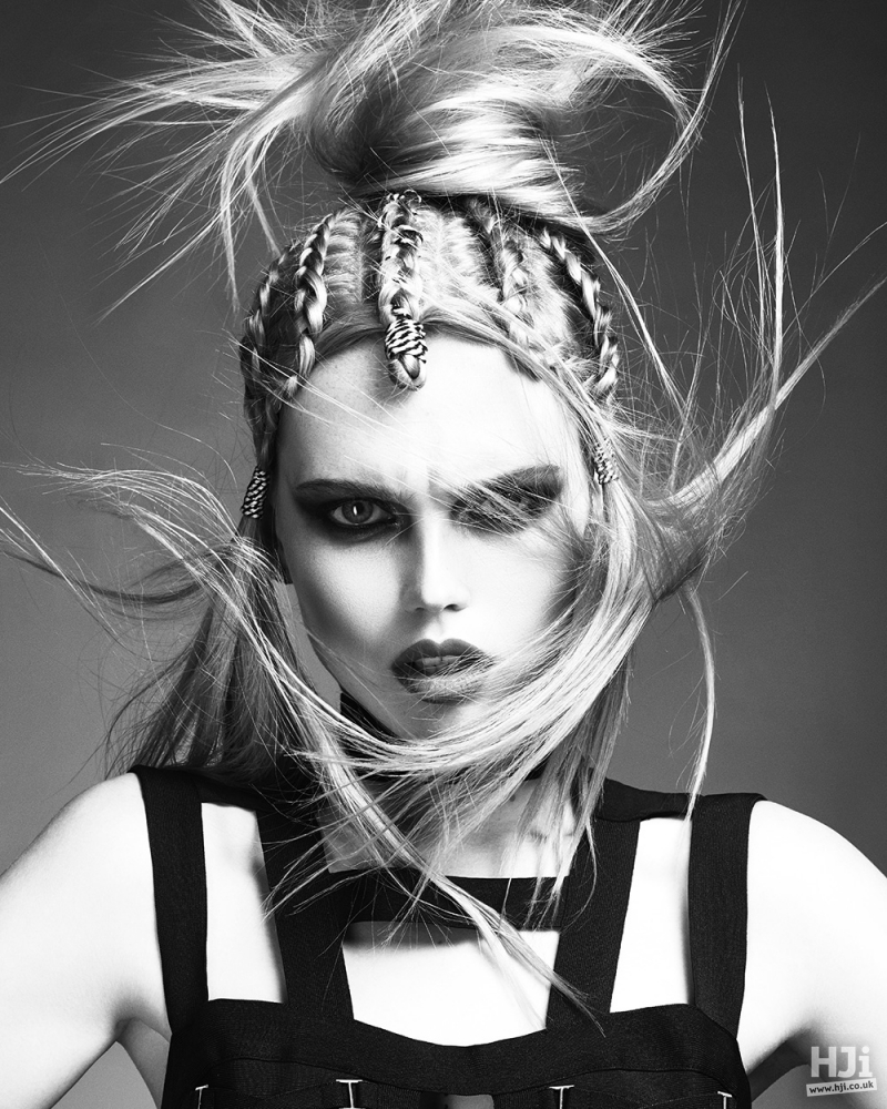 Creative plaiting and updo
