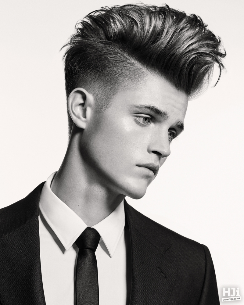 Short hair on top with tapered cut