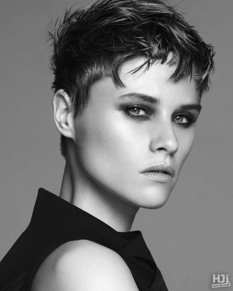 Crop with with wispy short fringe and skin fade