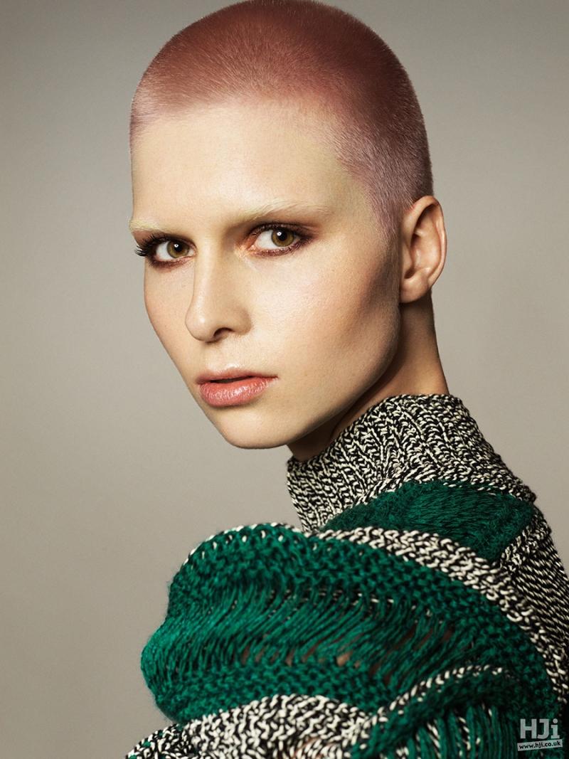 Light pink crop women' hairstyle