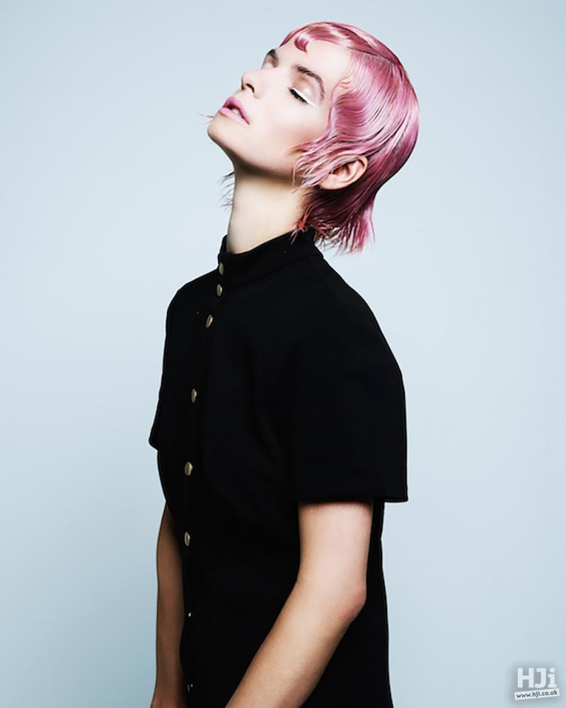 Slicked pink cut