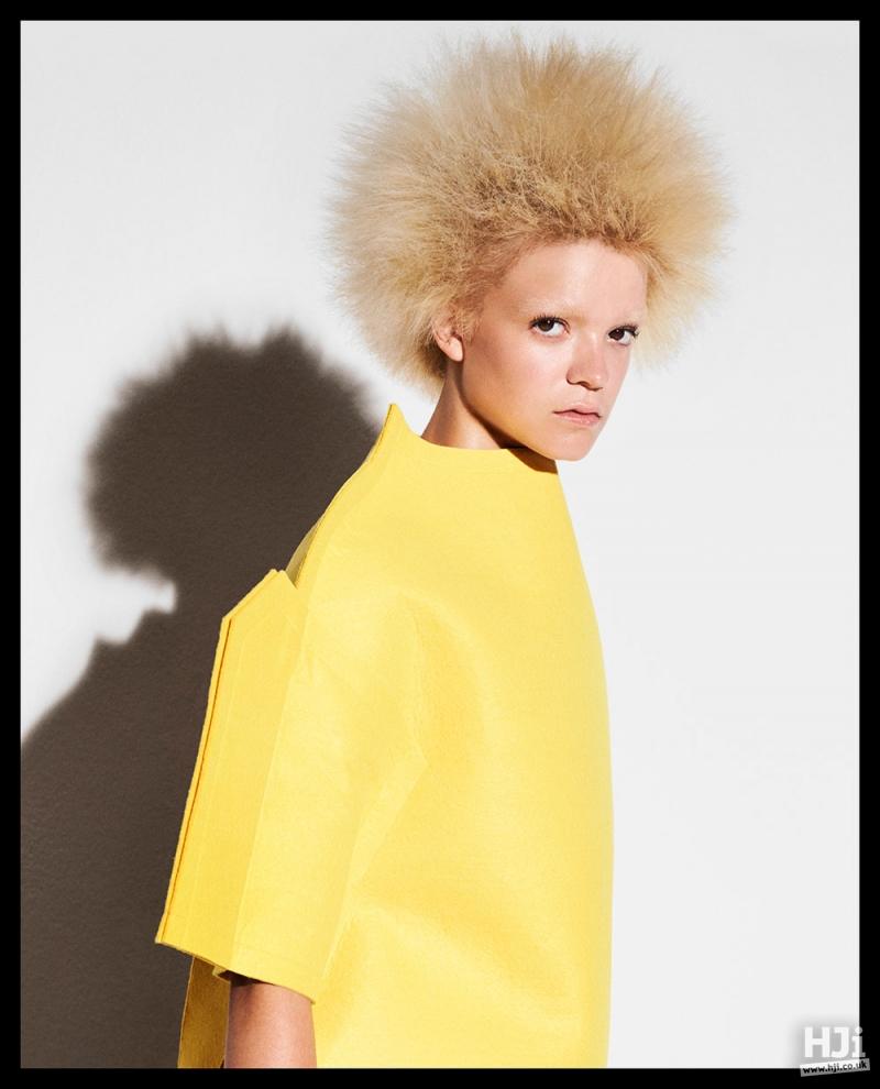 Blonde spiky hair