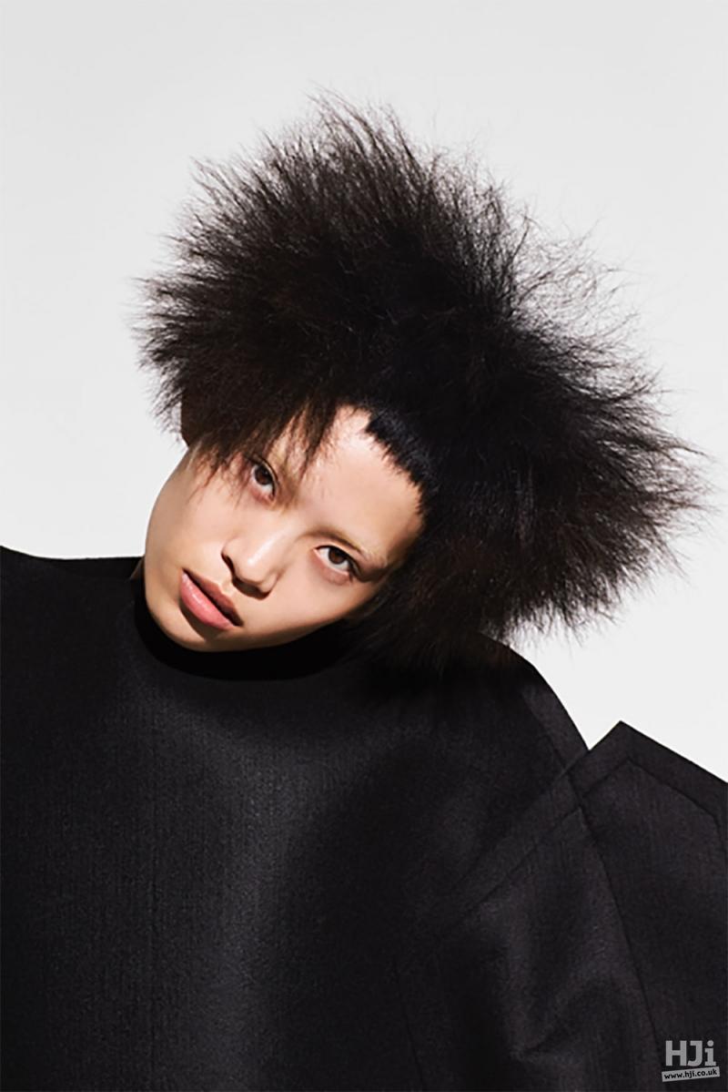 Short fringe with spiky hair