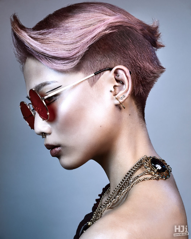 Pink tapered cut