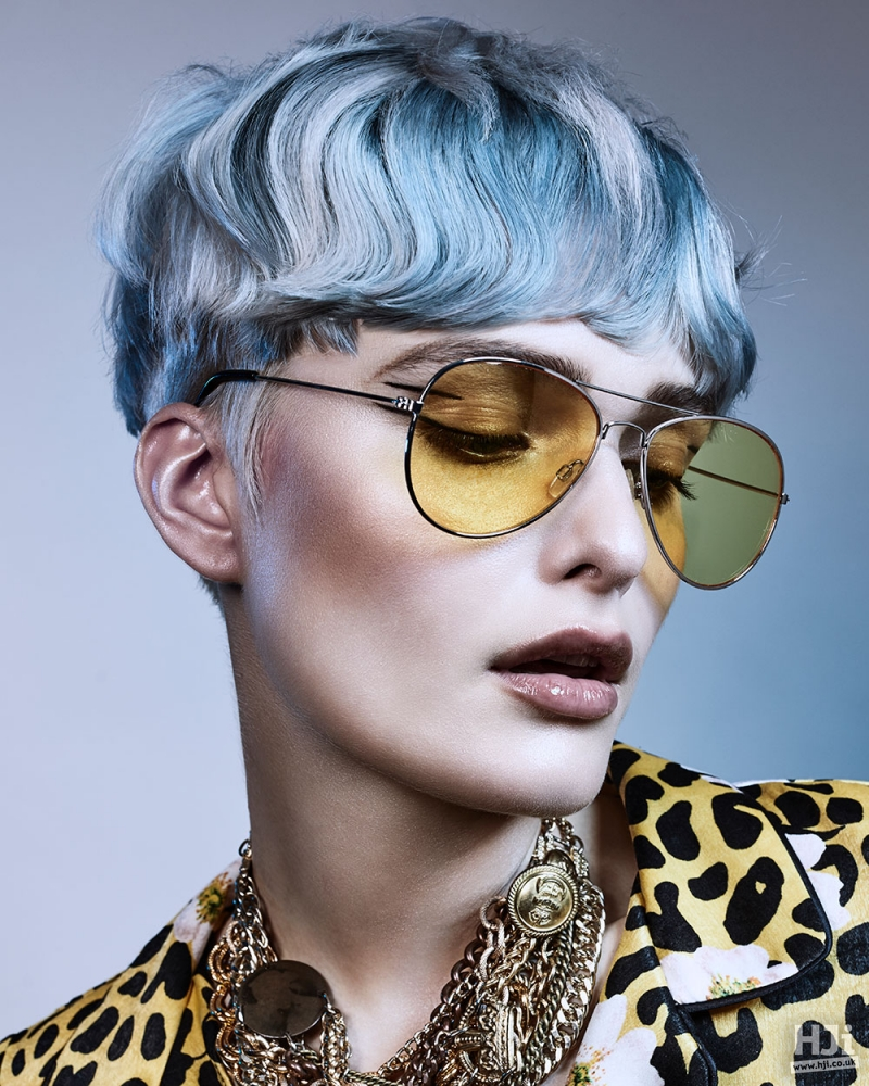 Blue natural texture with fringe