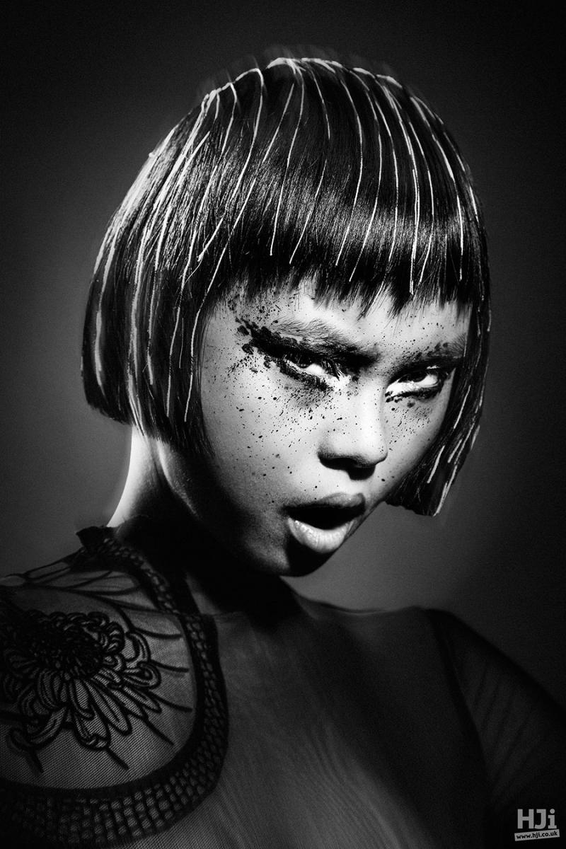 Bob hairstyle with a short fringe