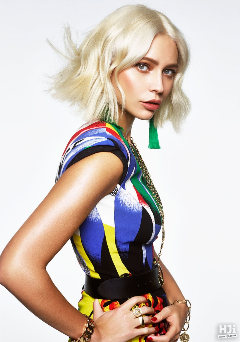 Platinum Mid Length Hairstyle