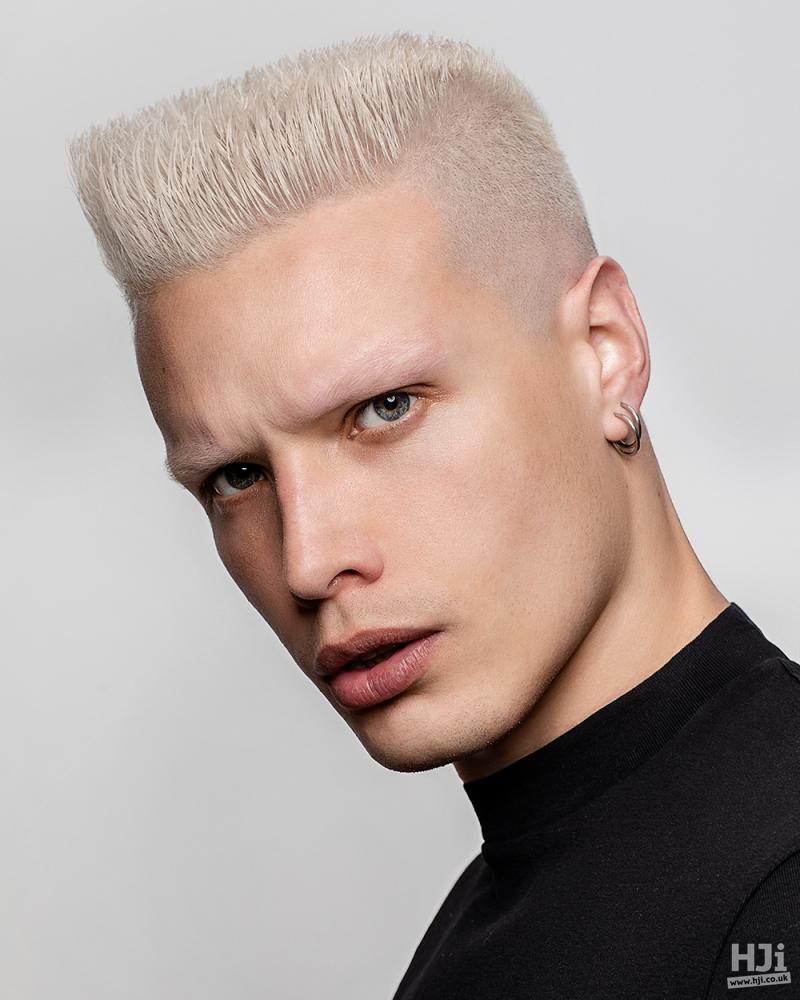 Platinum blonde skin fade