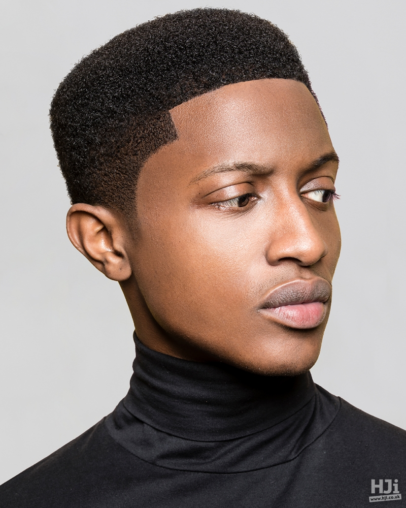 Afro hair with rounded cut