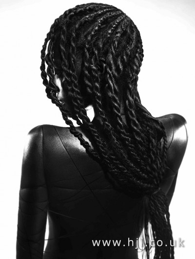 Stunning rope braids hairstyle
