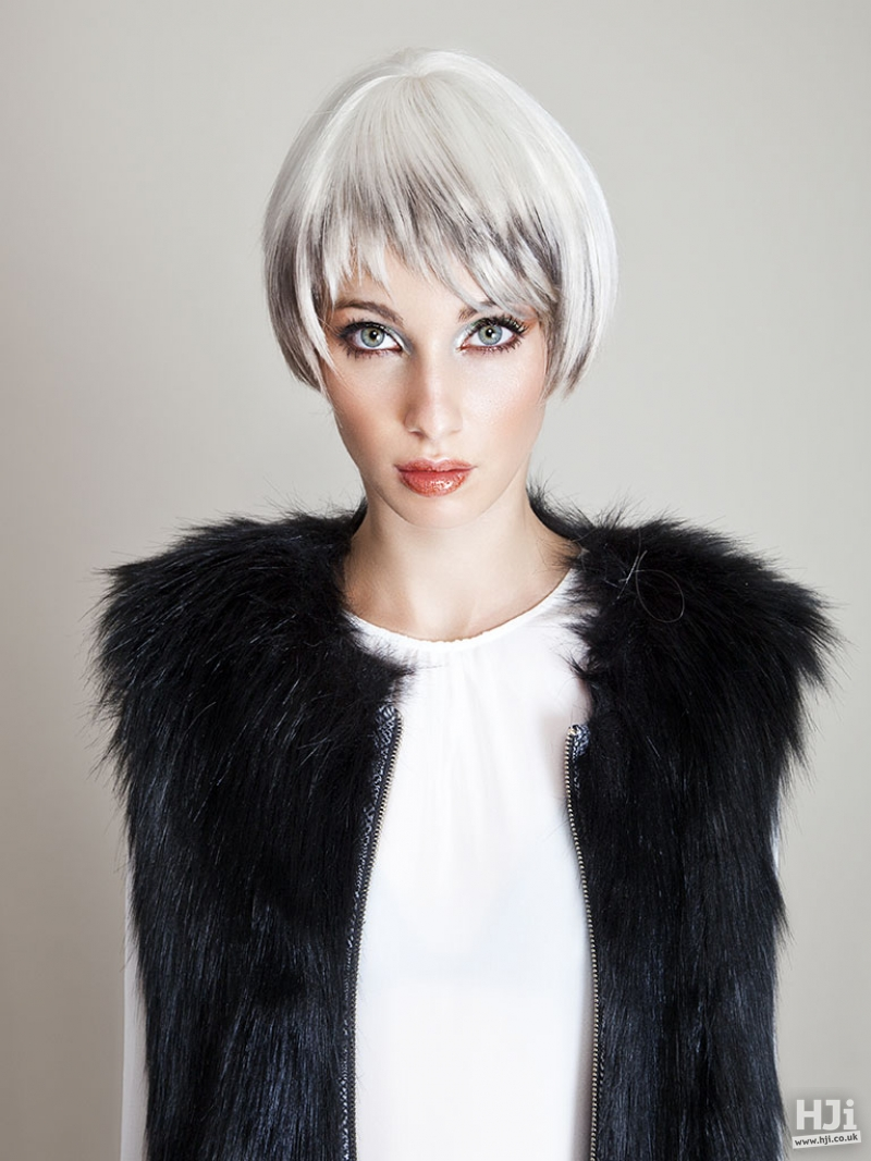 Silver blonde short hair