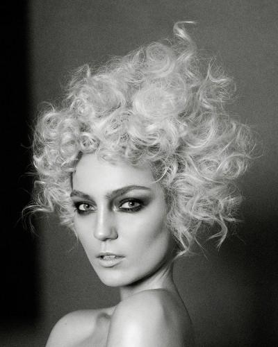 Short, curls, wig