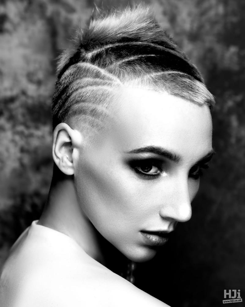 Hair tattoo on crop cut