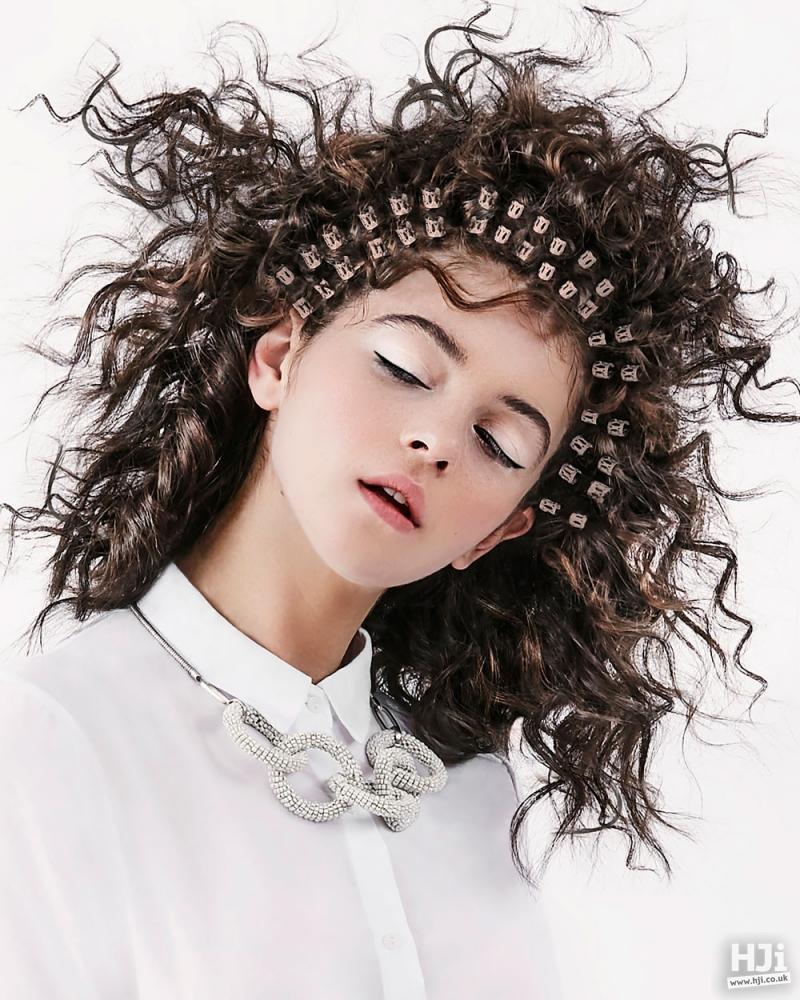 Brunette curls