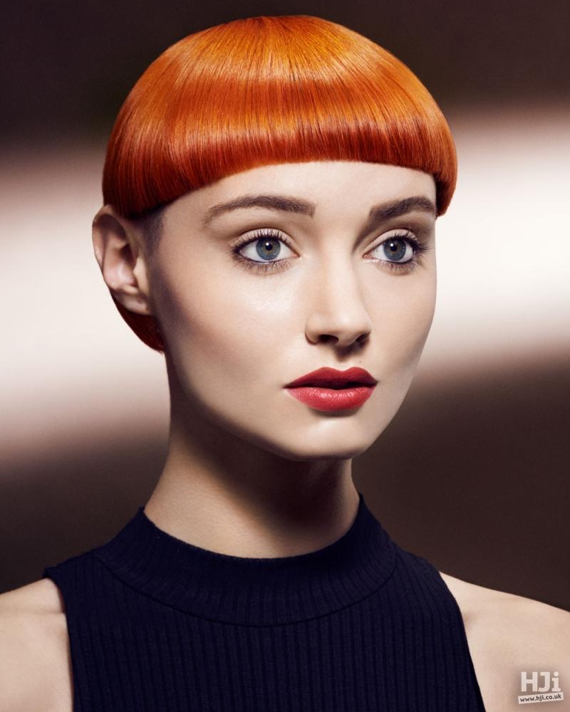 Sleek redhead