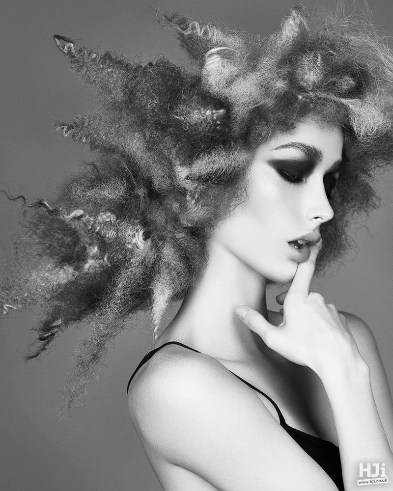 Creative colour coarse hair