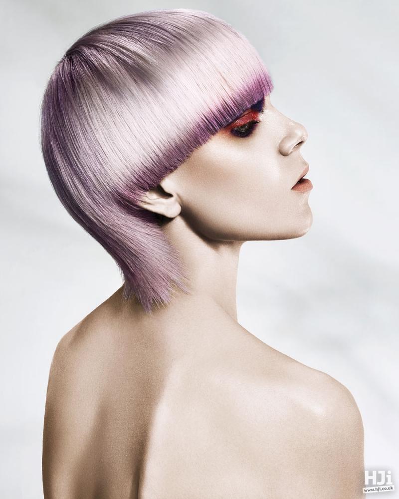 Short lilac hair