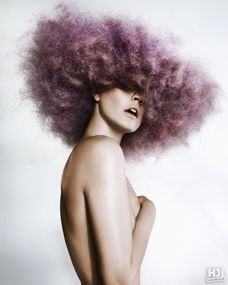 Lilac afro
