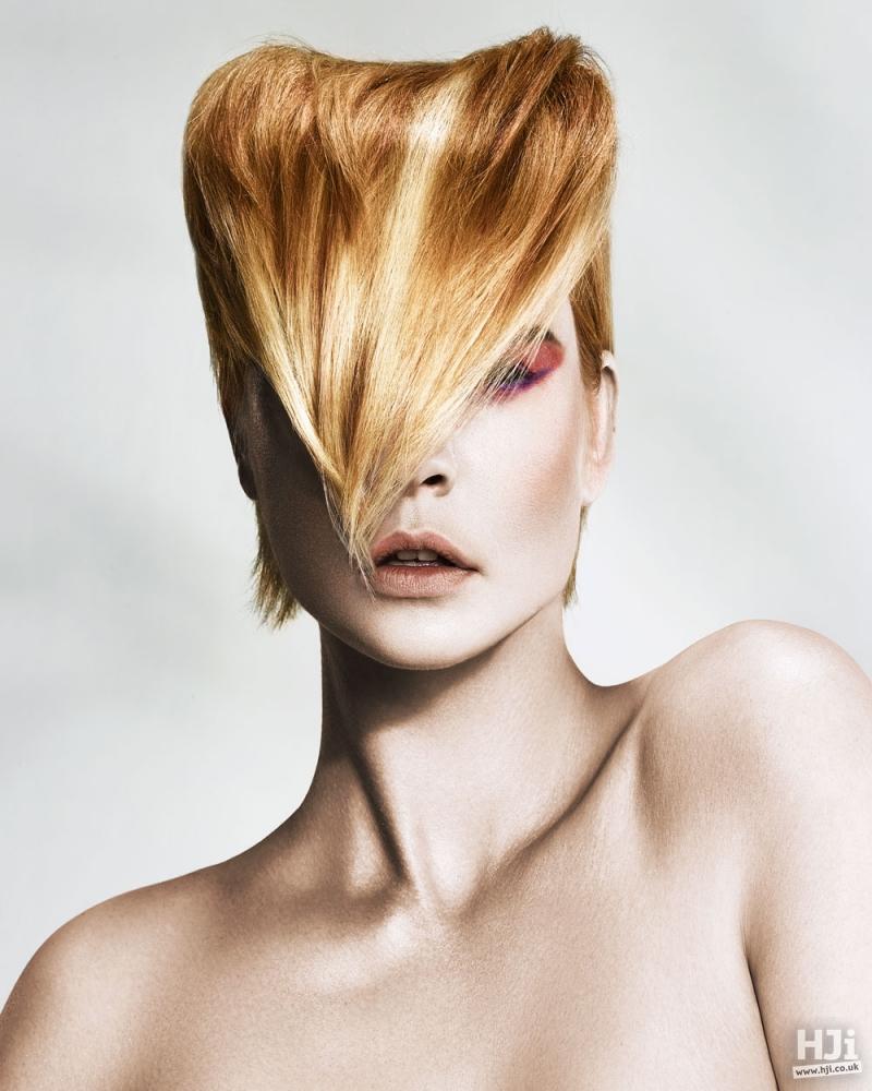 blonde pompadour