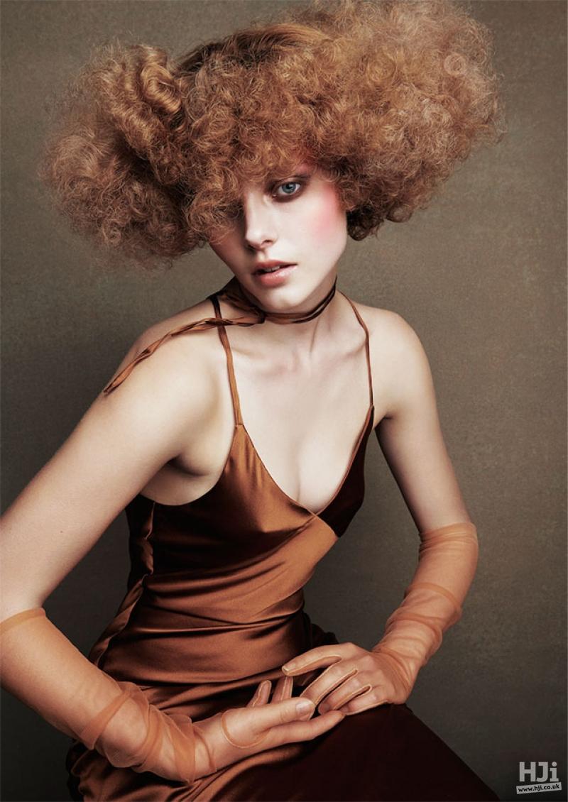 Avant Garde Curly Redhead