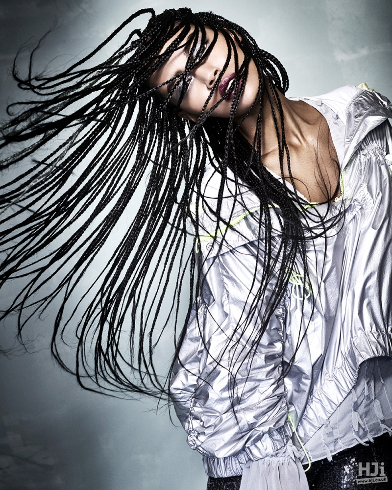 Braiding in long hair