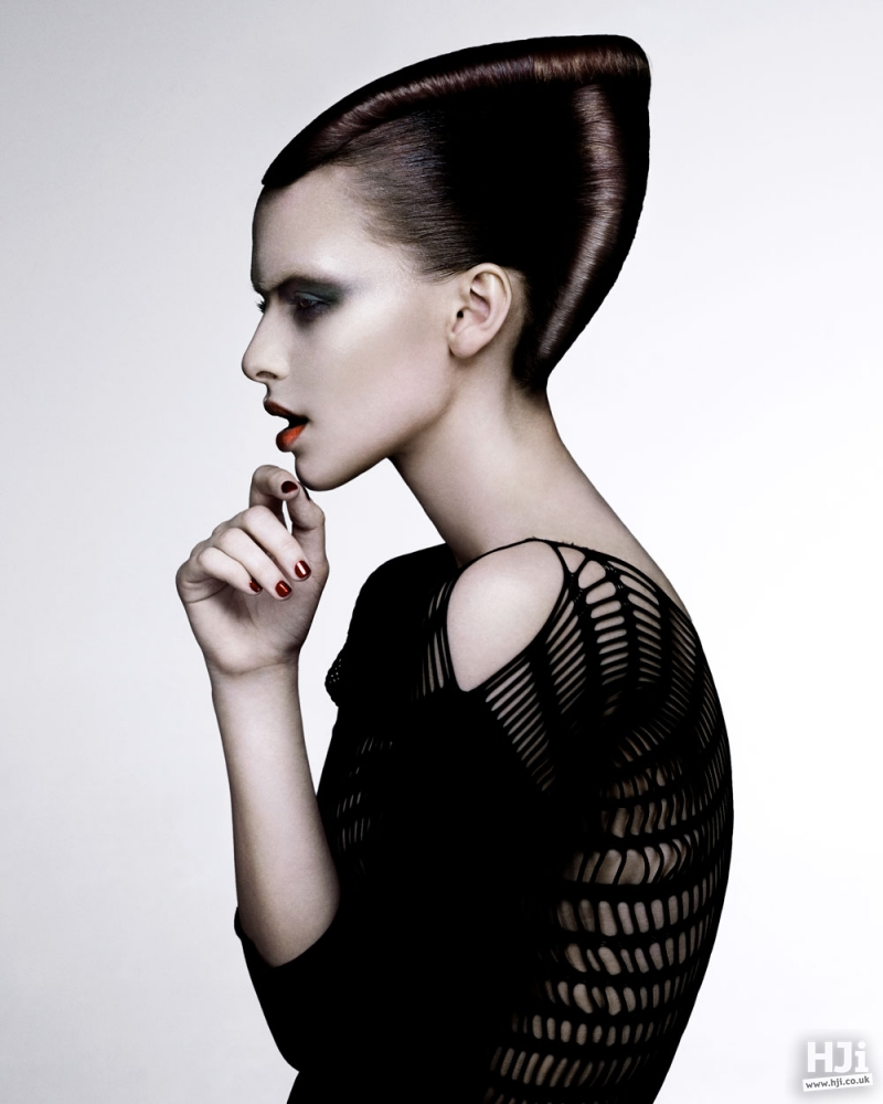 Slicked back creative updo