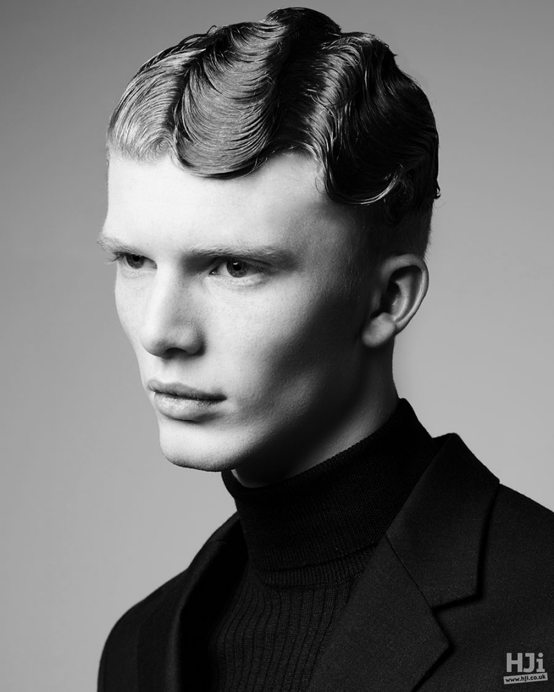 Finger Waves men hairstyle