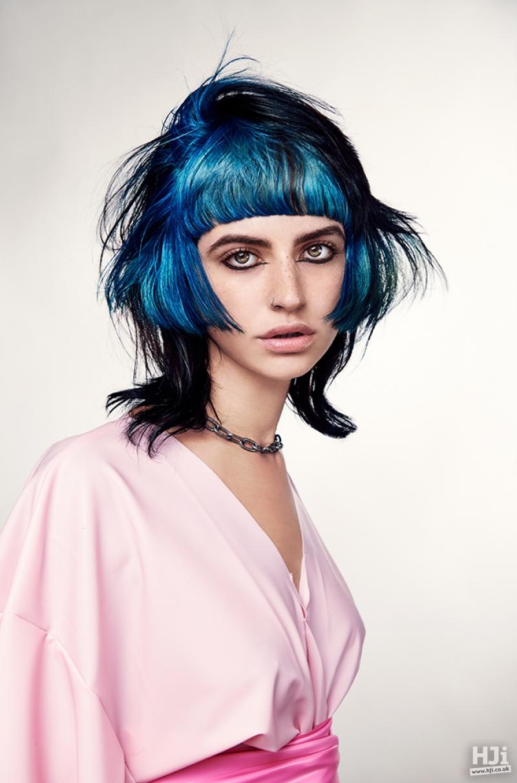 Creative blue cut