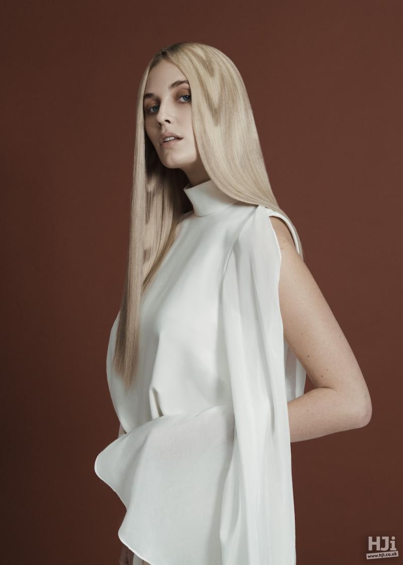 Long blonde creative colour