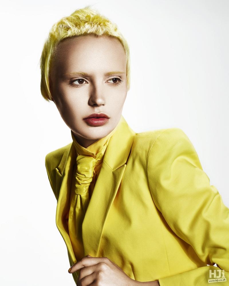 Yellow crop hair