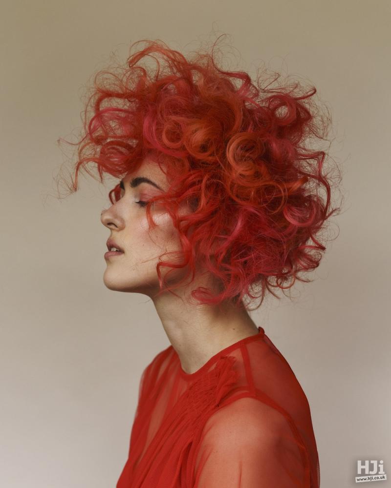 Firey toned curls