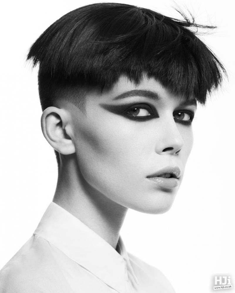 Straight Black Avant-garde fringe