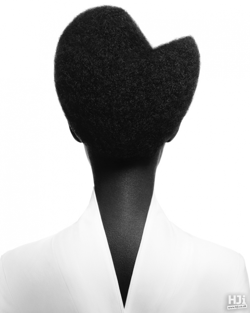 Avant-garde geometric shaping in afro hair